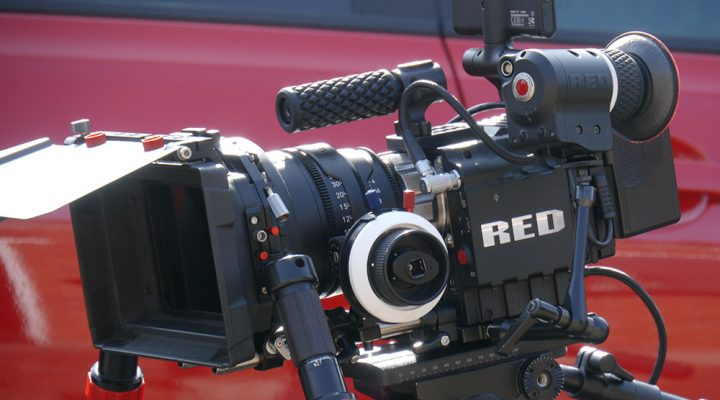 red epic with o'connor matte box